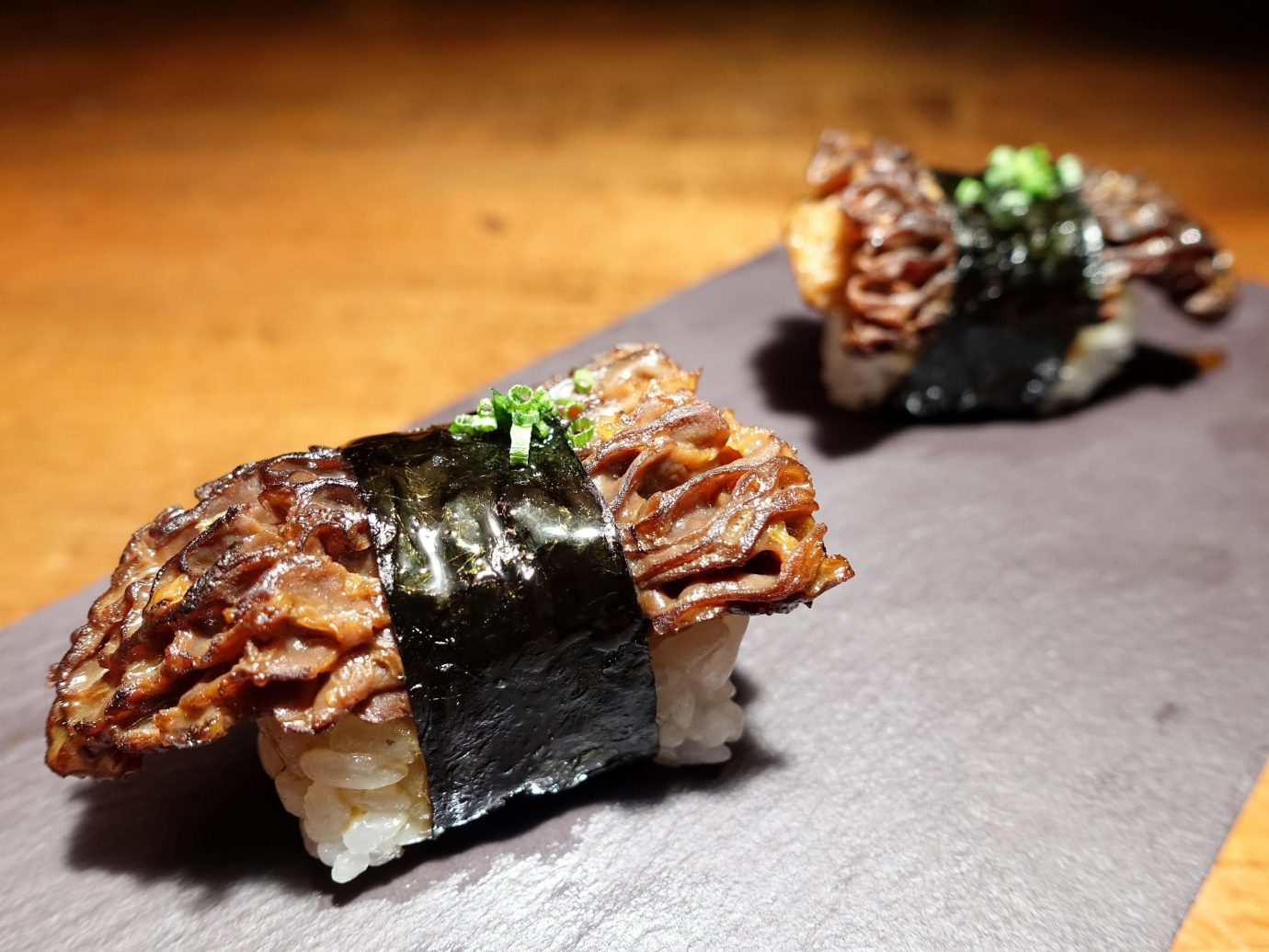 Food + Drink dish piece sushi food slice cuisine japanese cuisine asian food chocolate fork unagi california roll appetizer animal source foods dessert comfort food side dish square