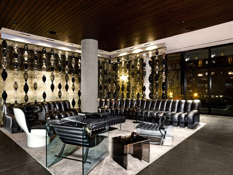 Boutique City Lounge Modern Lobby lighting restaurant