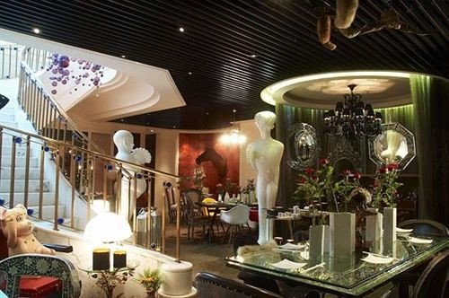 floristry restaurant Lobby lighting Boutique buffet dining table