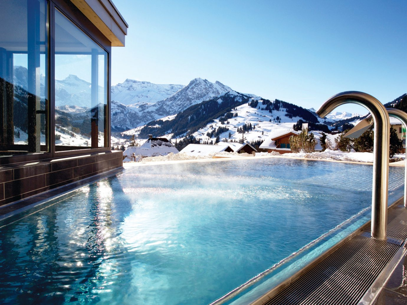 Infinity Pool At The Cabrian Hotel In Switzerland