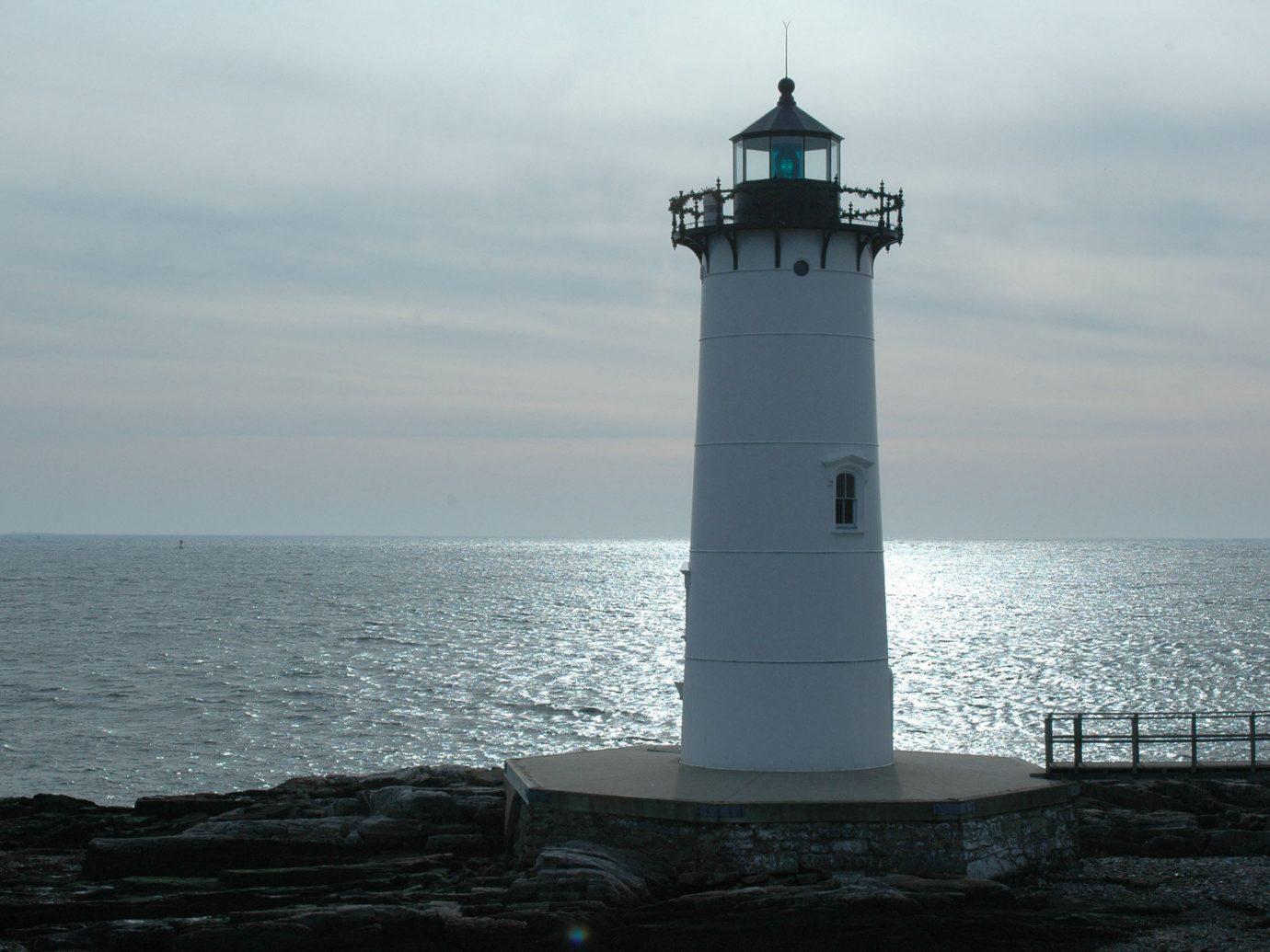 Trip Ideas water sky outdoor lighthouse tower Sea Ocean Coast cape overlooking