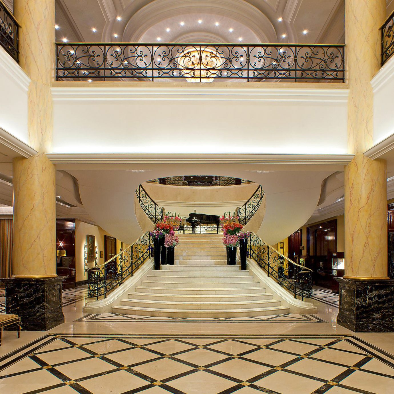 Business City Lobby Luxury Romance building mansion palace home hall living room flooring