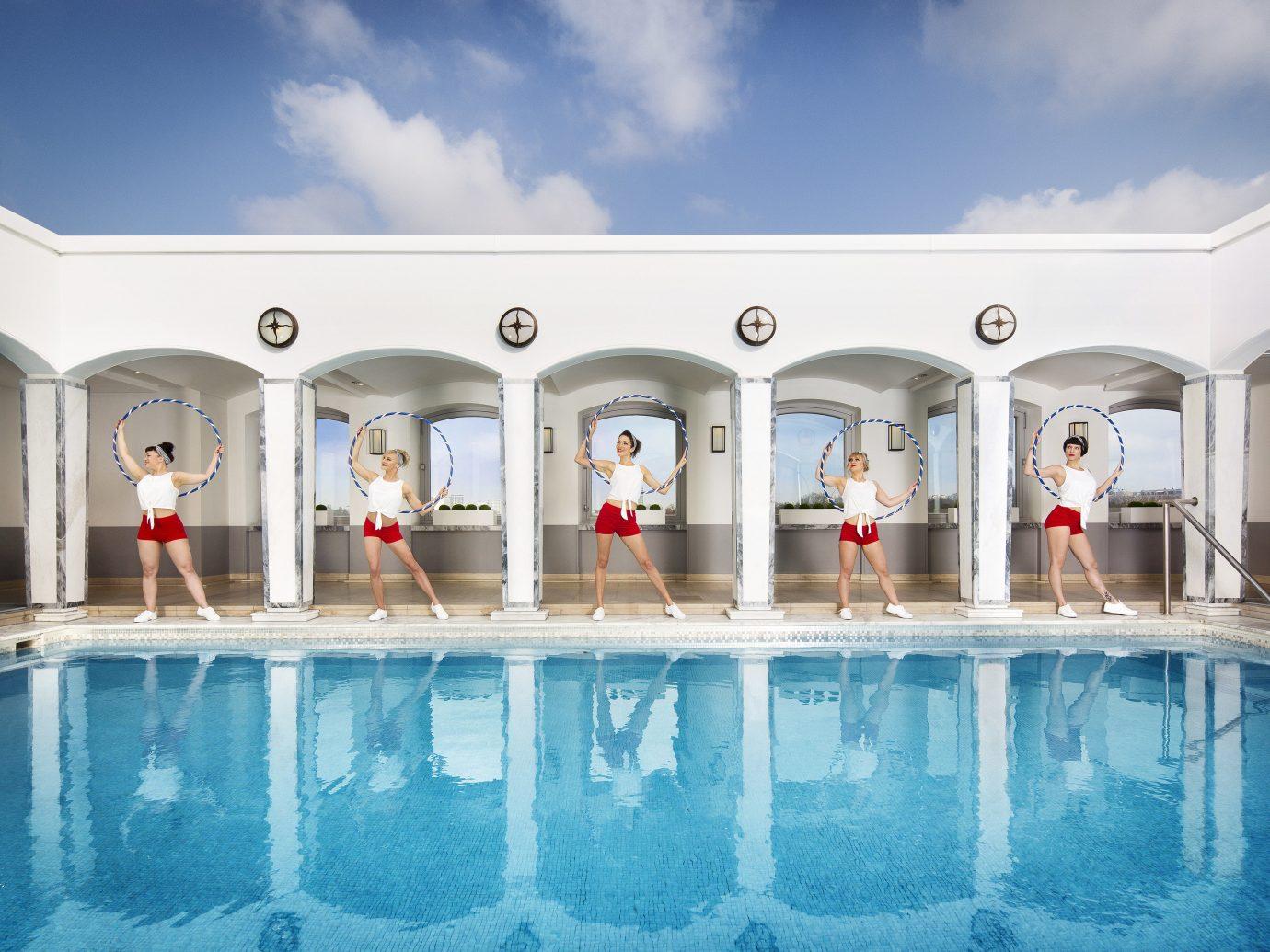 Health + Wellness Hotels Yoga Retreats sky leisure swimming pool Resort estate vacation interior design mansion