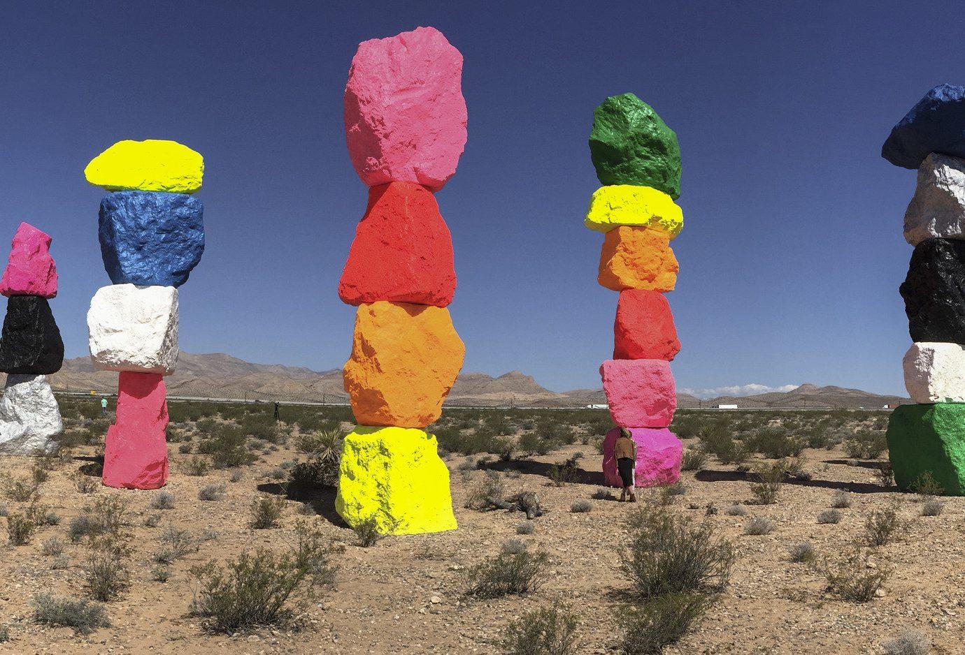 Seven Magic Mountains outside Las Vegas