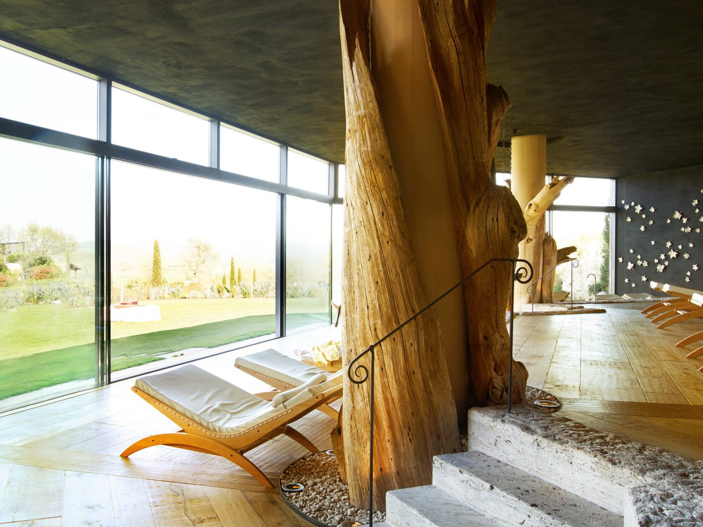 Health + Wellness Hotels Spa Retreats room building house floor estate interior design home wood furniture