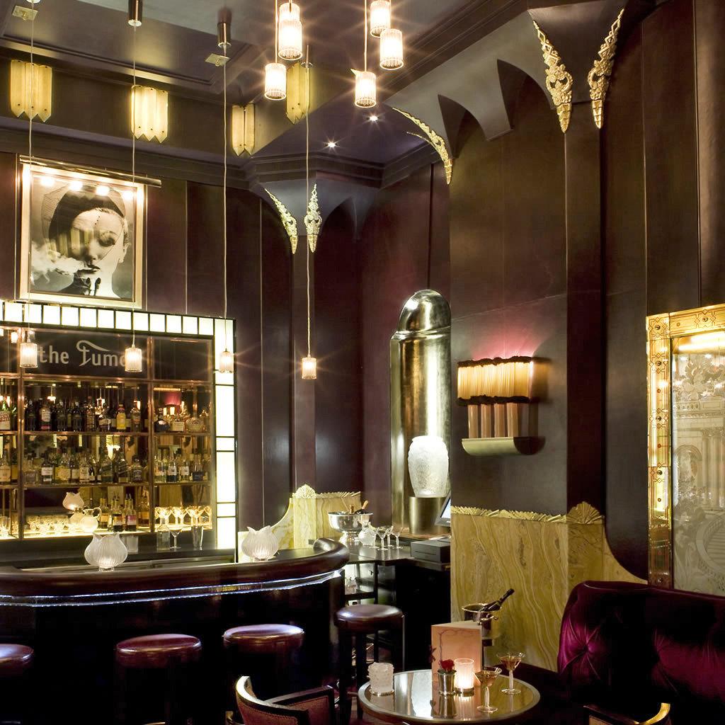 Hotels indoor restaurant interior design lighting Lobby Bar estate table several dining room
