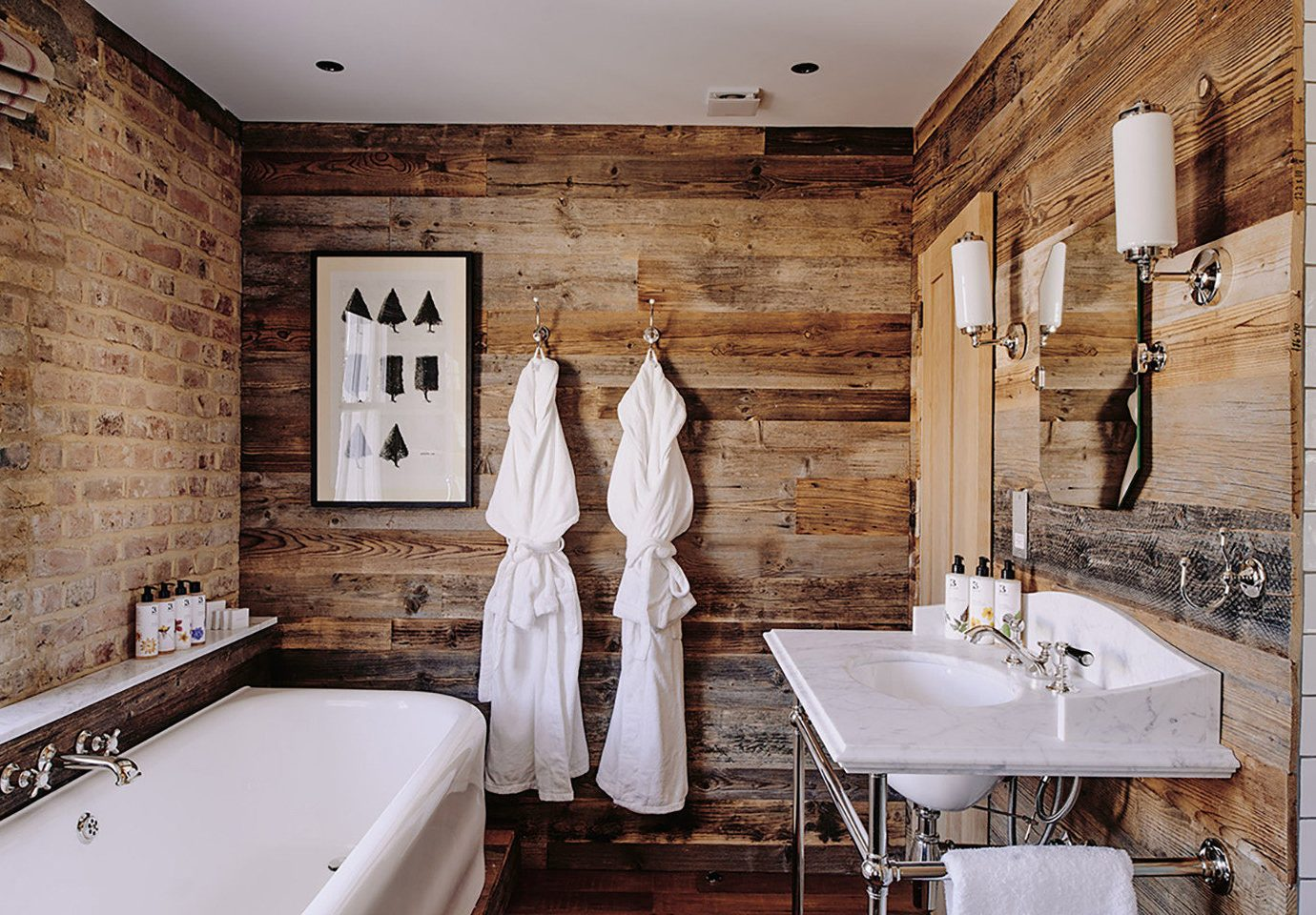 Boutique Hotels Hotels bathroom indoor wall sink room interior design tub home flooring floor bathtub tiled stone Bath tile