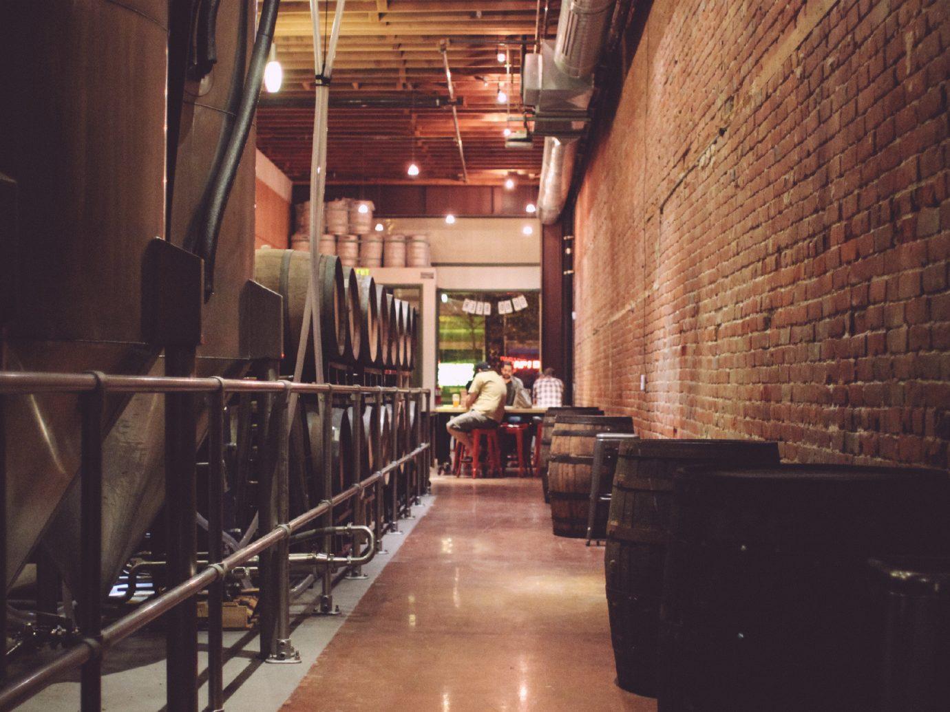 Trip Ideas indoor building wood alley lighting interior design basement