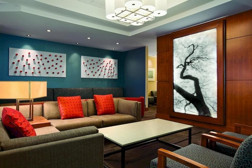 City Lobby Lounge Modern living room property Suite home condominium