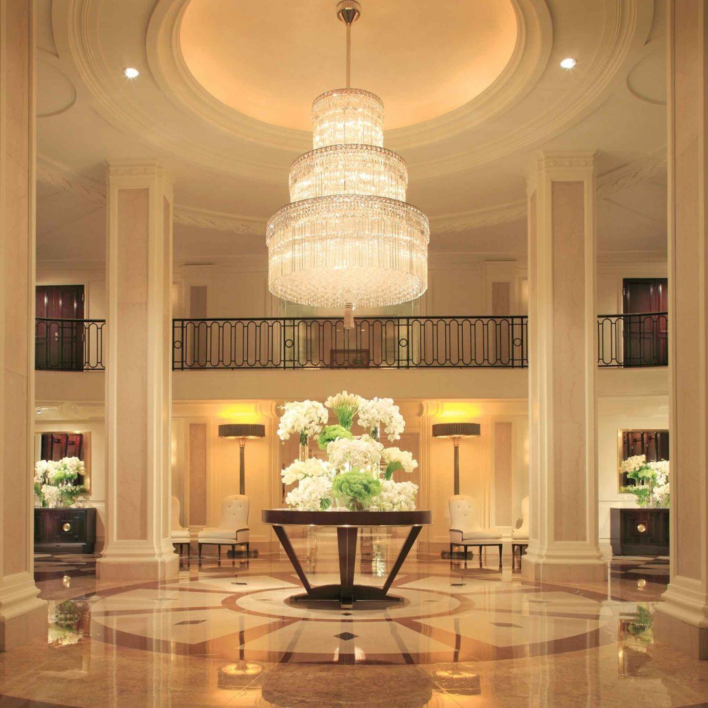 Classic Elegant Lobby Luxury lighting home living room mansion ballroom hall column