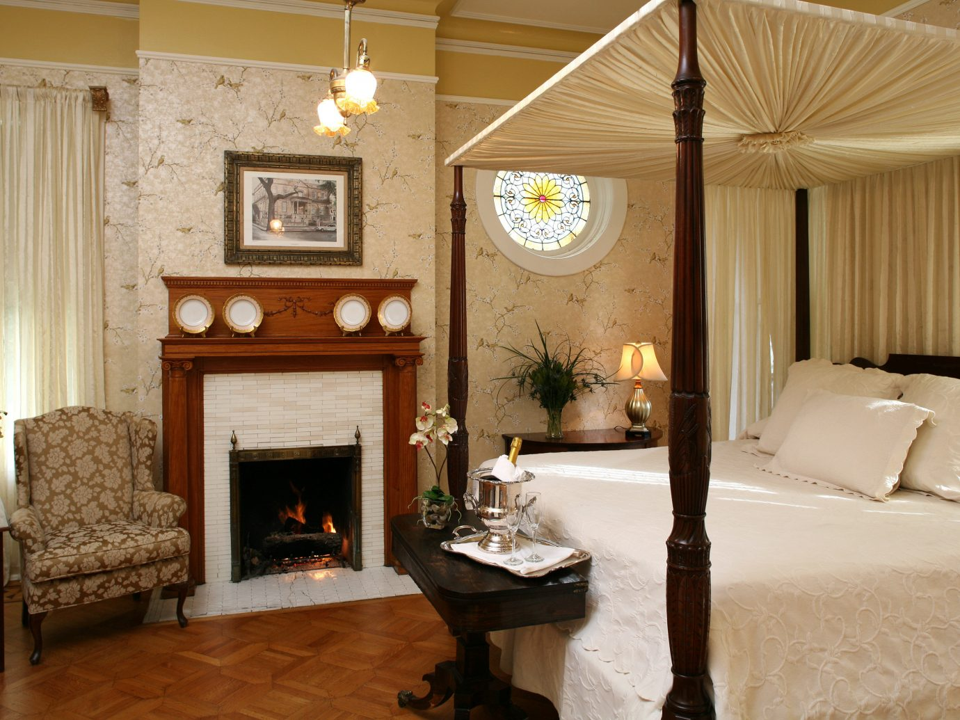 Bedroom Historic Luxury Romance Suite Trip Ideas indoor floor room Living property Fireplace living room estate home ceiling cottage interior design farmhouse Villa wood mansion furniture decorated