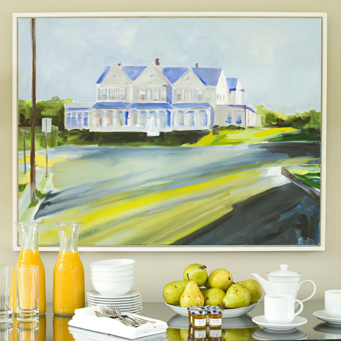 Country Family Golf Luxury Modern Resort Sport yellow modern art home counter illustration