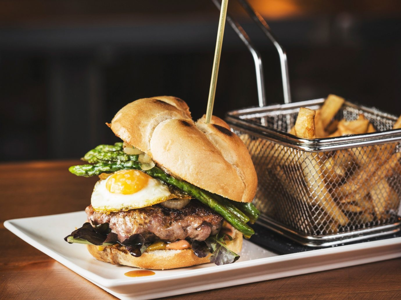 Food + Drink table food dish indoor plate meal snack food restaurant cuisine sense meat hamburger breakfast fast food sandwich