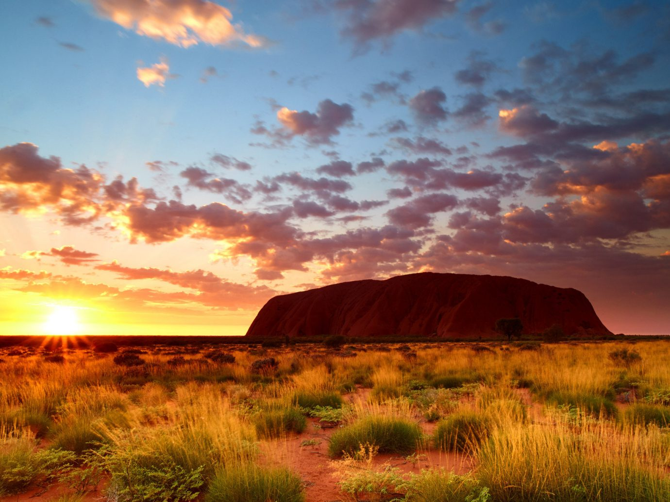 Uluru rock in the Australian Outback