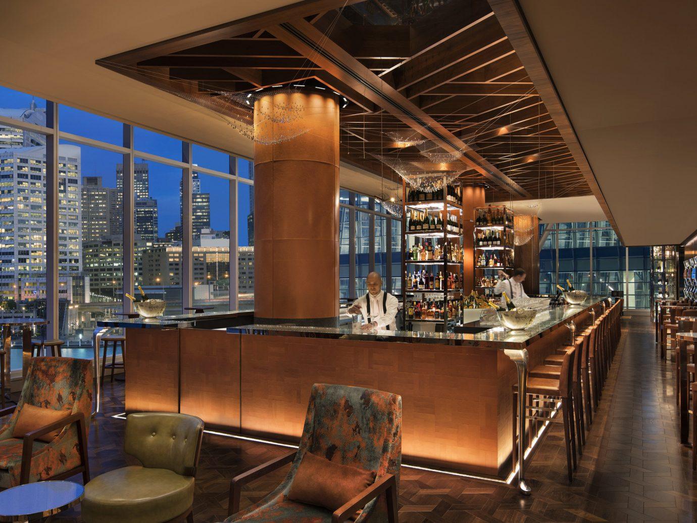 Trip Ideas indoor floor ceiling room restaurant interior design Bar furniture Dining area several