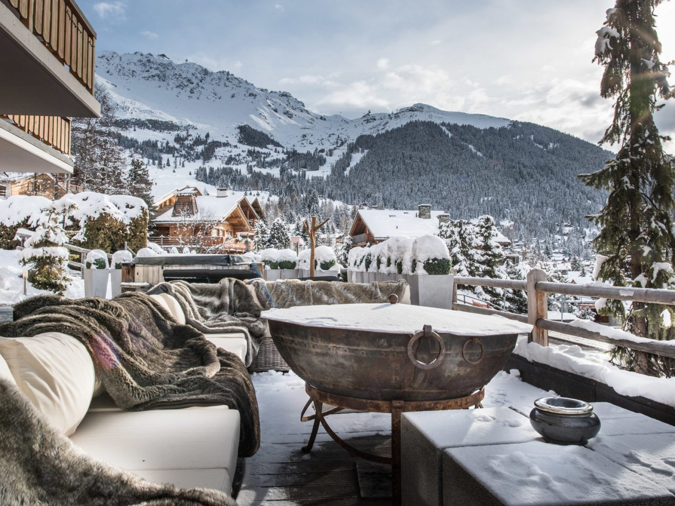 Food + Drink Hotels Luxury Travel Mountains + Skiing sky outdoor snow Winter weather Resort season