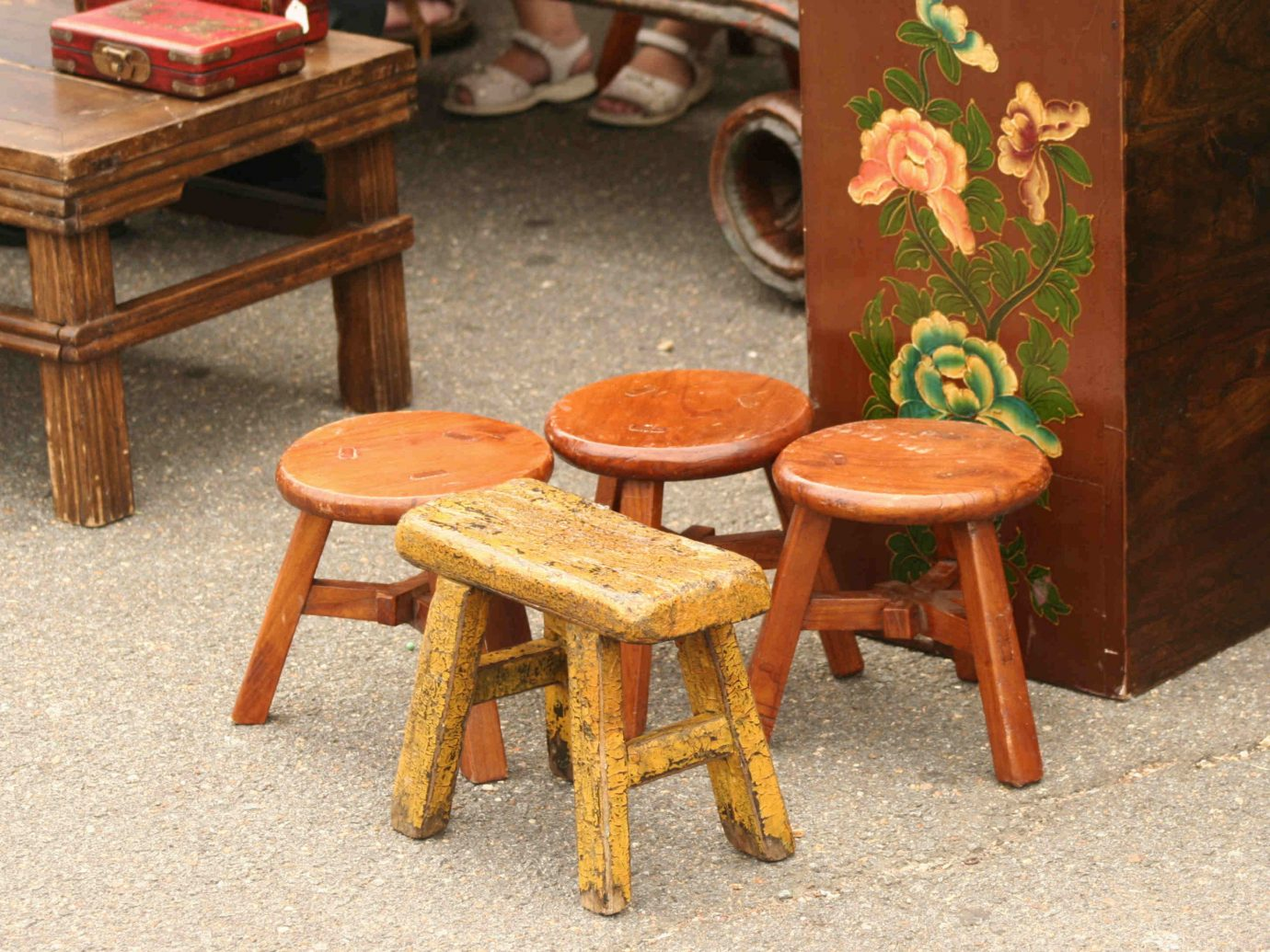 Trip Ideas floor furniture man made object chair table room seat wooden wood stool antique dining table