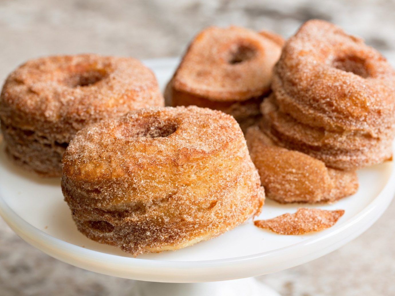 Summer Series plate doughnut food dessert snickerdoodle baked goods cuisine dish produce pastry flavor baking close containing