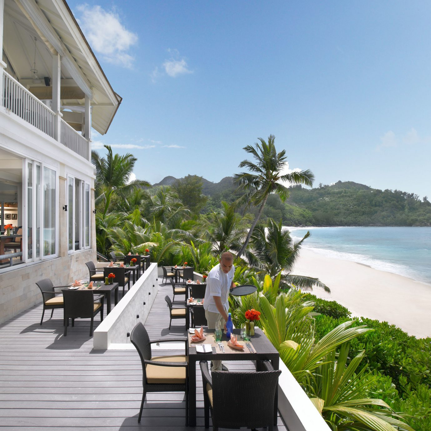 sky water building Resort walkway condominium caribbean Sea Villa porch overlooking Deck