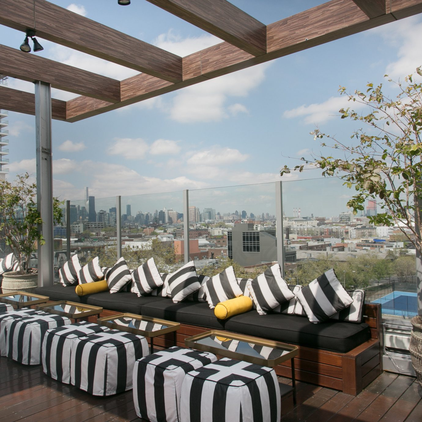 property building restaurant home Resort Villa Deck lined overlooking