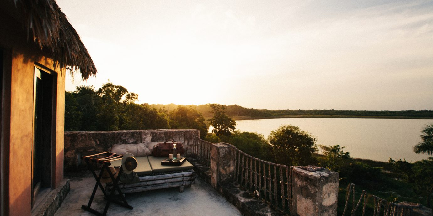 Deck Romantic Scenic views sky house morning evening waterway travel