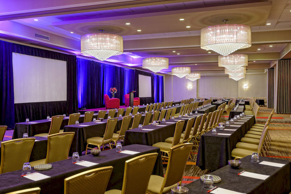 function hall chair auditorium conference hall convention convention center meeting Dining ballroom academic conference banquet long set lined