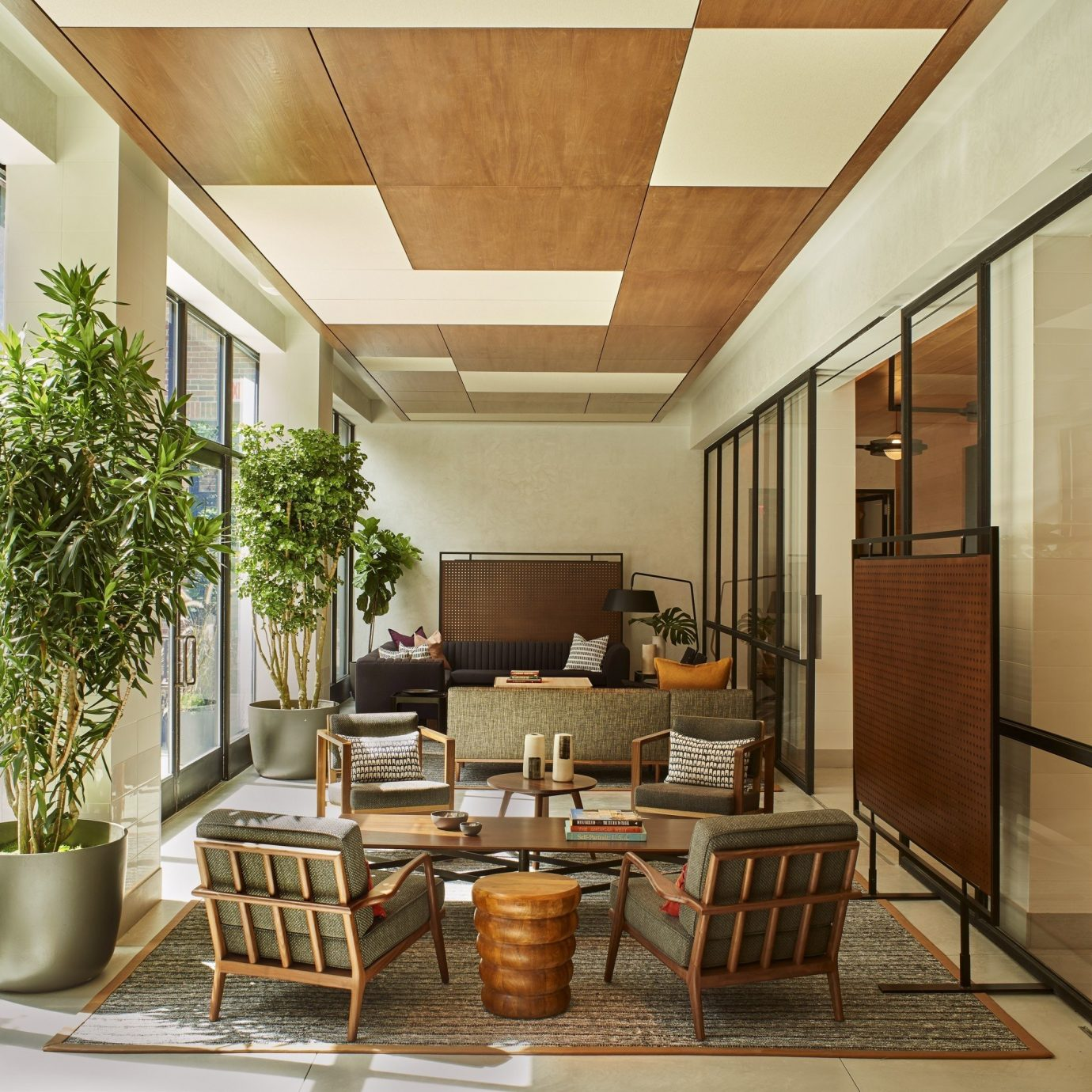 property condominium home Lobby living room Dining