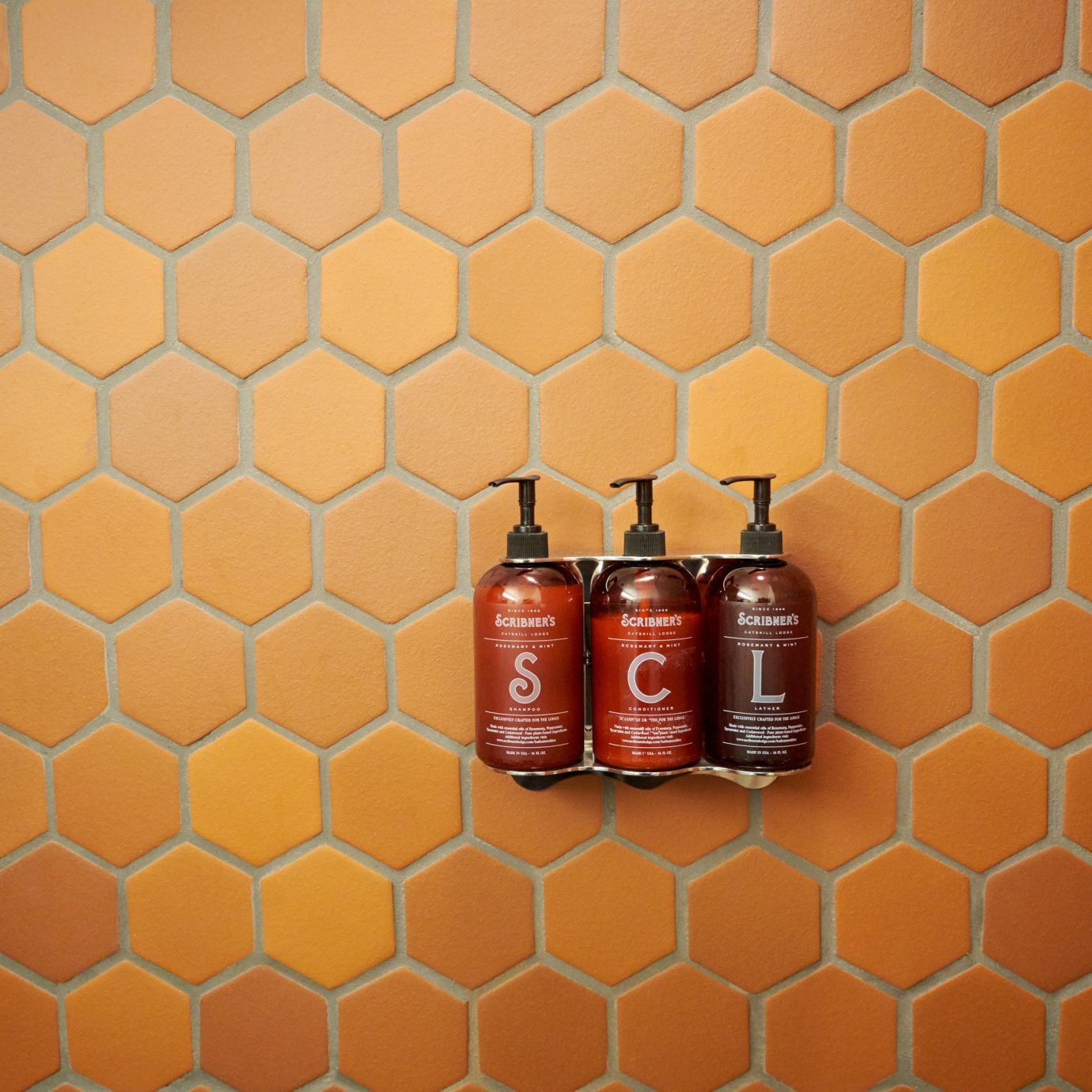 red orange pattern distilled beverage flooring row