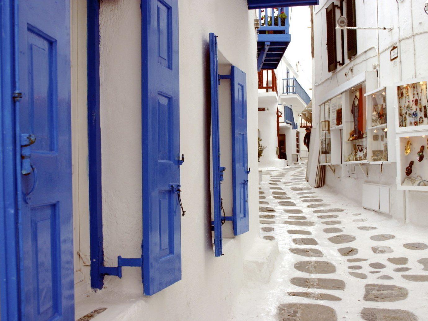 Romance Trip Ideas color indoor blue wall Architecture street art interior design facade hall