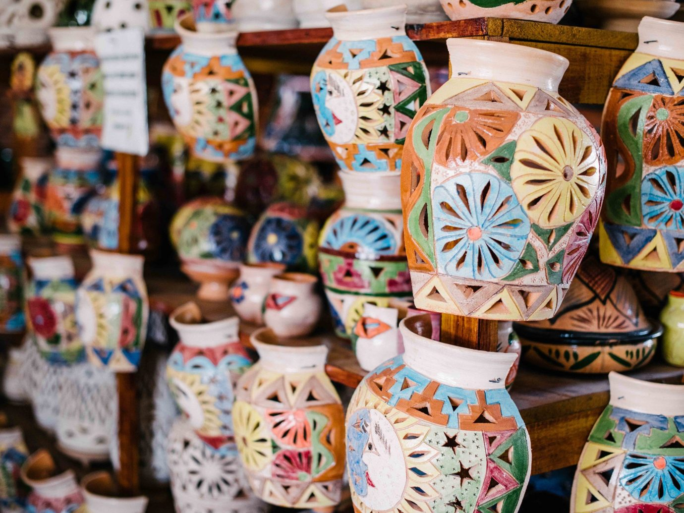 Arts + Culture Mexico Oaxaca Trip Ideas indoor ceramic porcelain tradition pottery colorful decorated