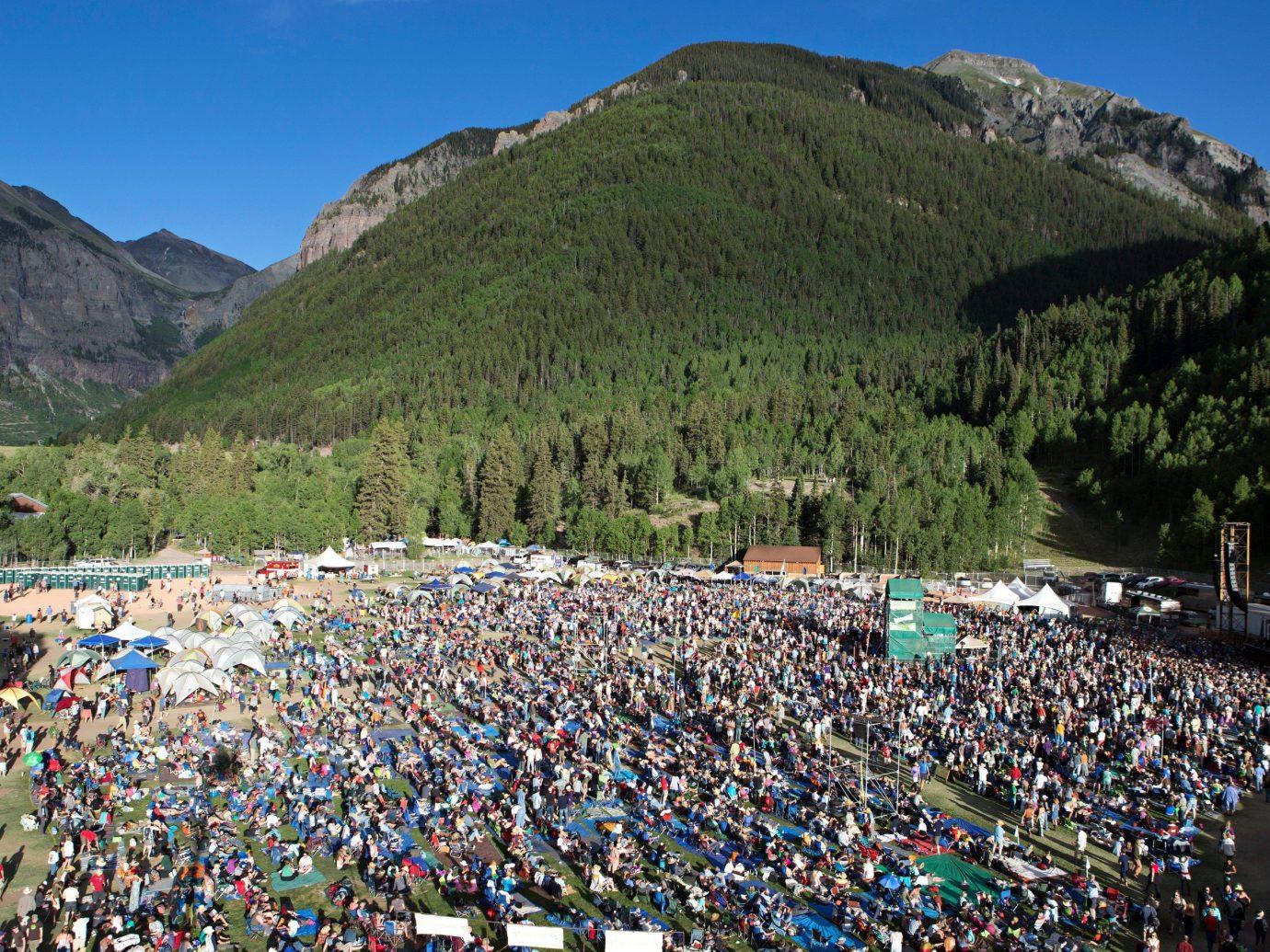Trip Ideas outdoor mountain sky people tourism mountain range crowd