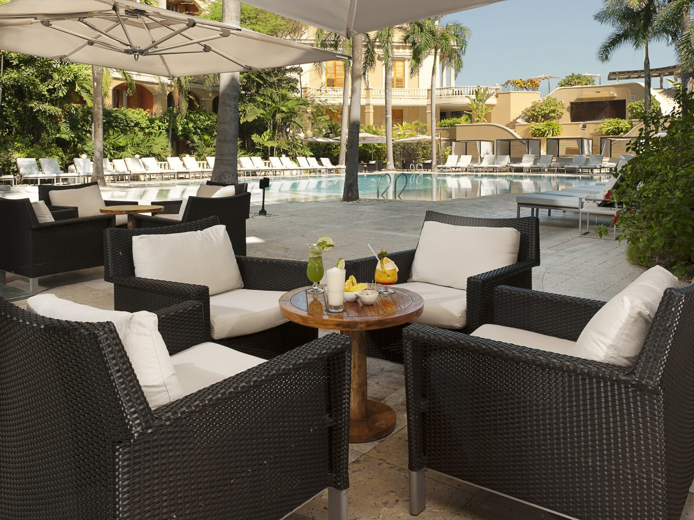Exterior Hotels Living Lounge Luxury Modern Pool Romance tree table chair outdoor property room condominium Villa estate Resort real estate outdoor structure furniture Patio cottage backyard apartment area