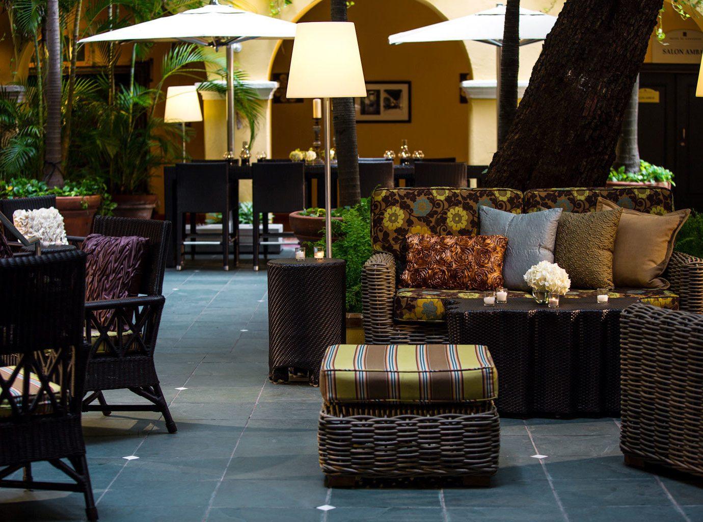 Elegant Hip Hotels Living Lounge Luxury table chair room restaurant interior design Design estate Lobby outdoor structure furniture backyard area set arranged