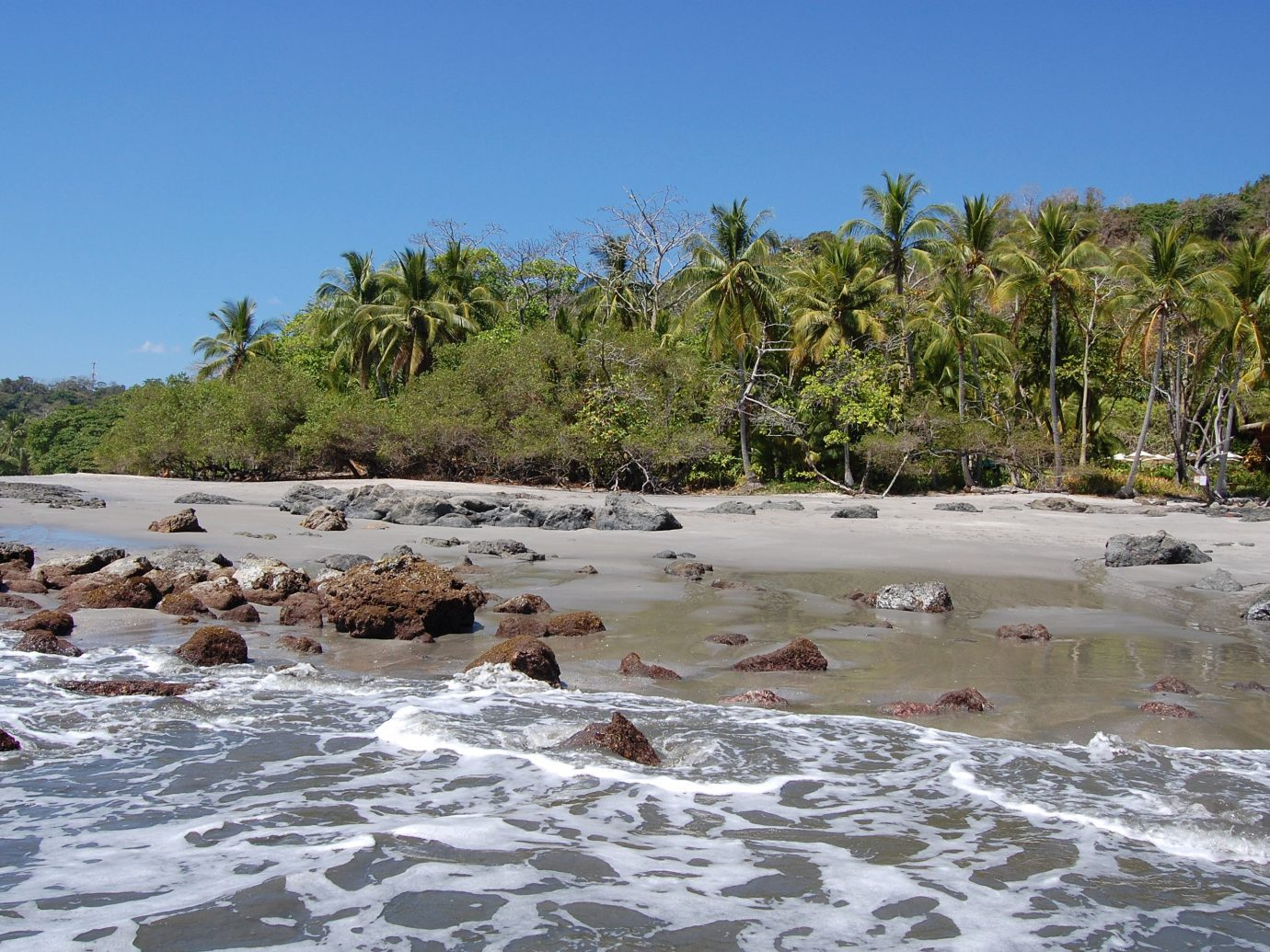 Beach at Playa Montezuma in Costa Rica