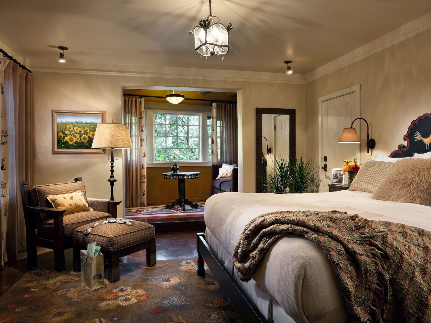 Historic Hotels Luxury indoor sofa wall room ceiling bed floor property Bedroom estate hotel living room home Suite interior design cottage real estate mansion farmhouse furniture decorated