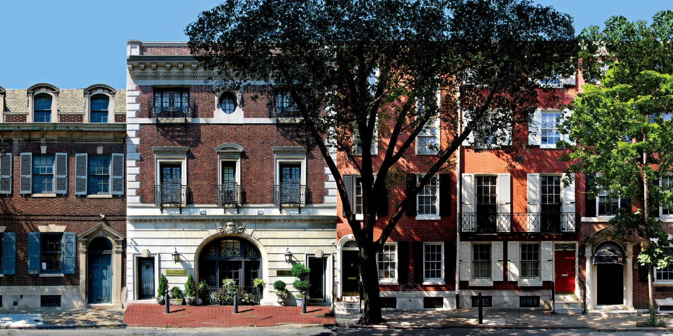 Boutique Boutique Hotels Classic Elegant Exterior Historic Hotels Inn Philadelphia outdoor building tree Town plaza neighbourhood City human settlement street residential area Downtown waterway cityscape facade town square government building