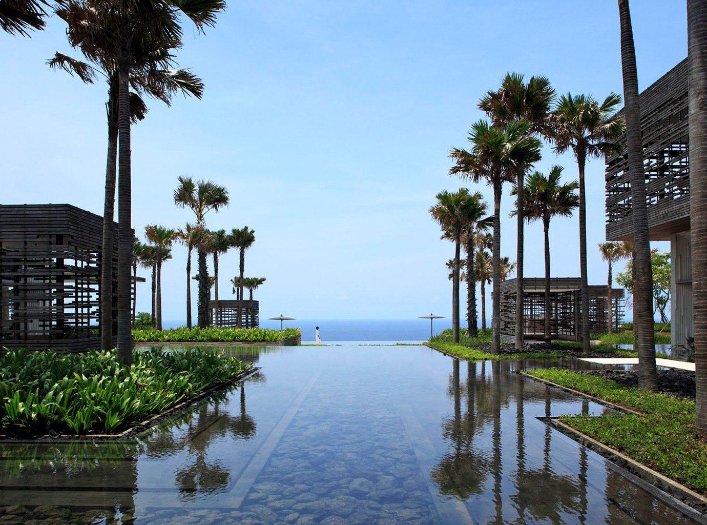 Eco Luxury Modern Pool Scenic views Waterfront sky tree water walkway arecales waterway Resort plant traveling