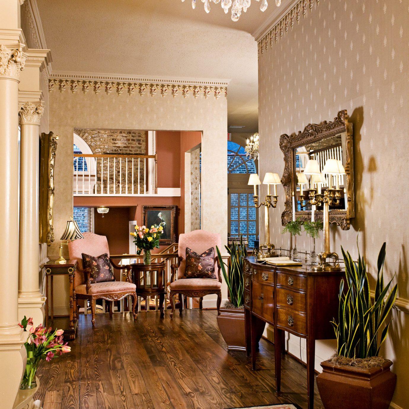 Elegant Fireplace Historic Lounge Luxury living room property home Lobby hardwood mansion condominium farmhouse wood flooring flooring