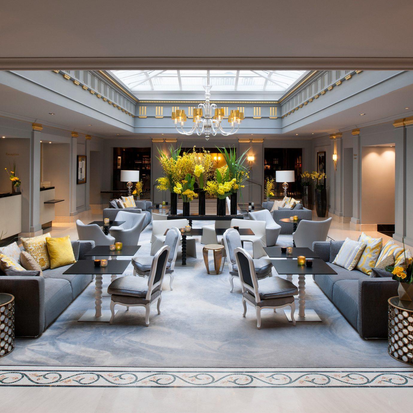 Elegant Lobby Lounge Luxury Modern property condominium living room white home restaurant function hall Resort