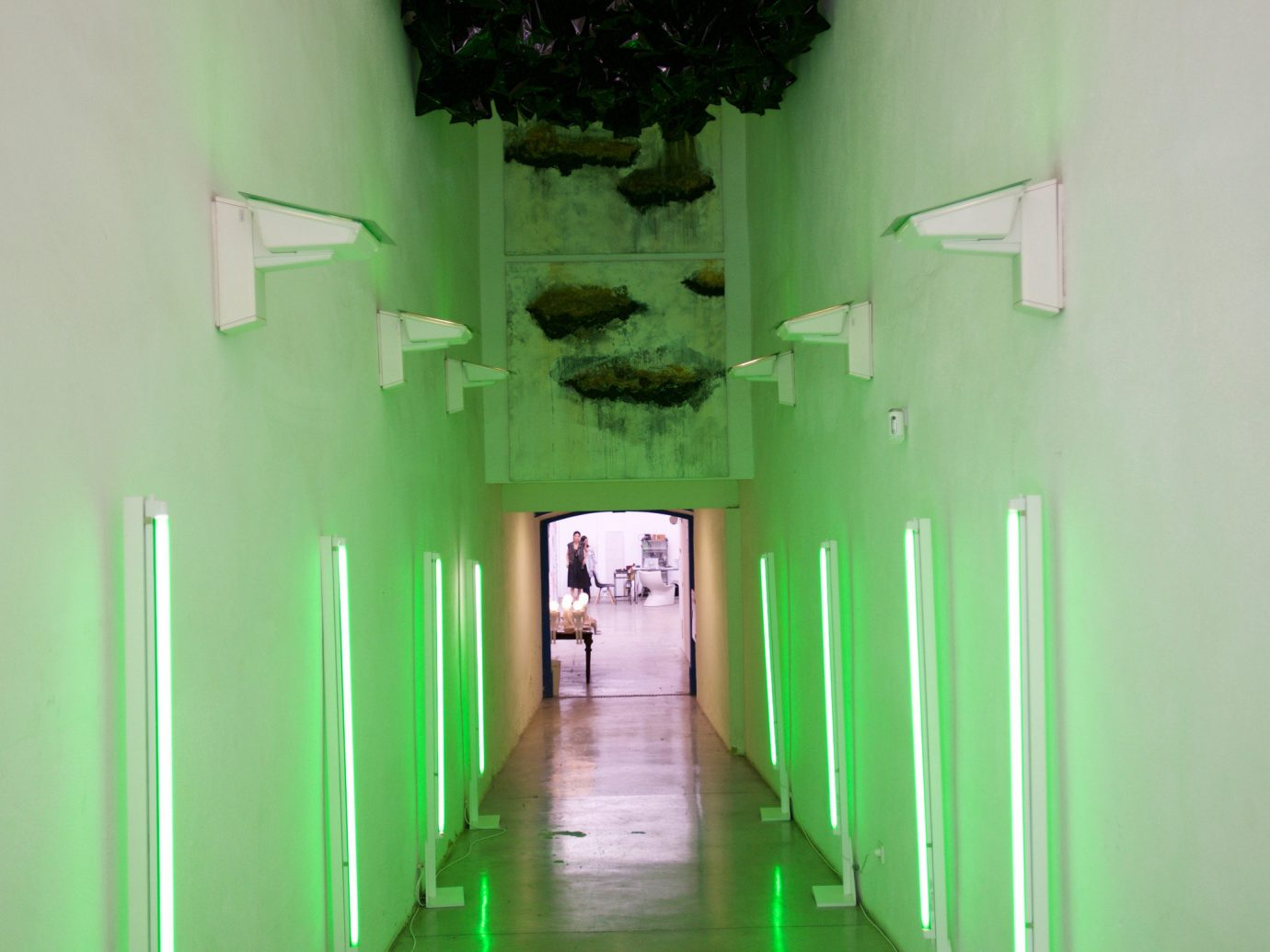 Style + Design wall green indoor color floor house room light interior design hall lighting shape ceiling flooring painted area
