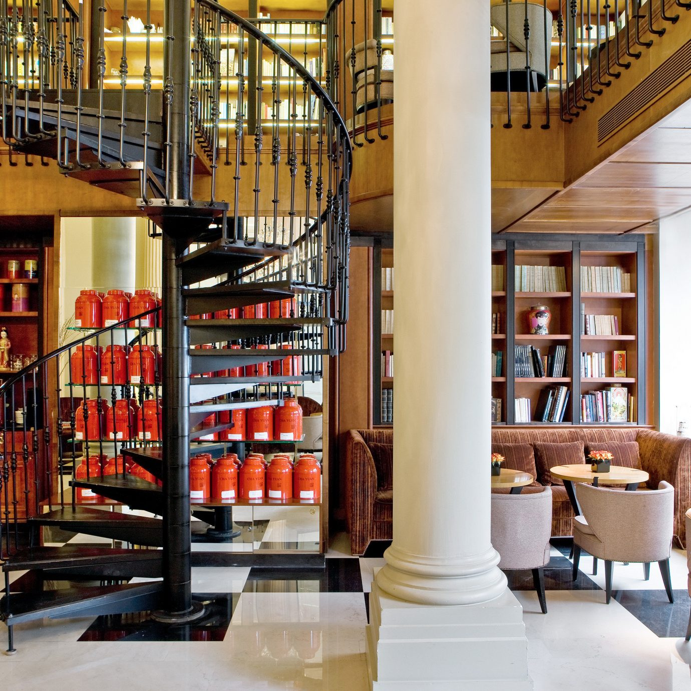 Entertainment Lounge Luxury Resort library building public library retail bookselling