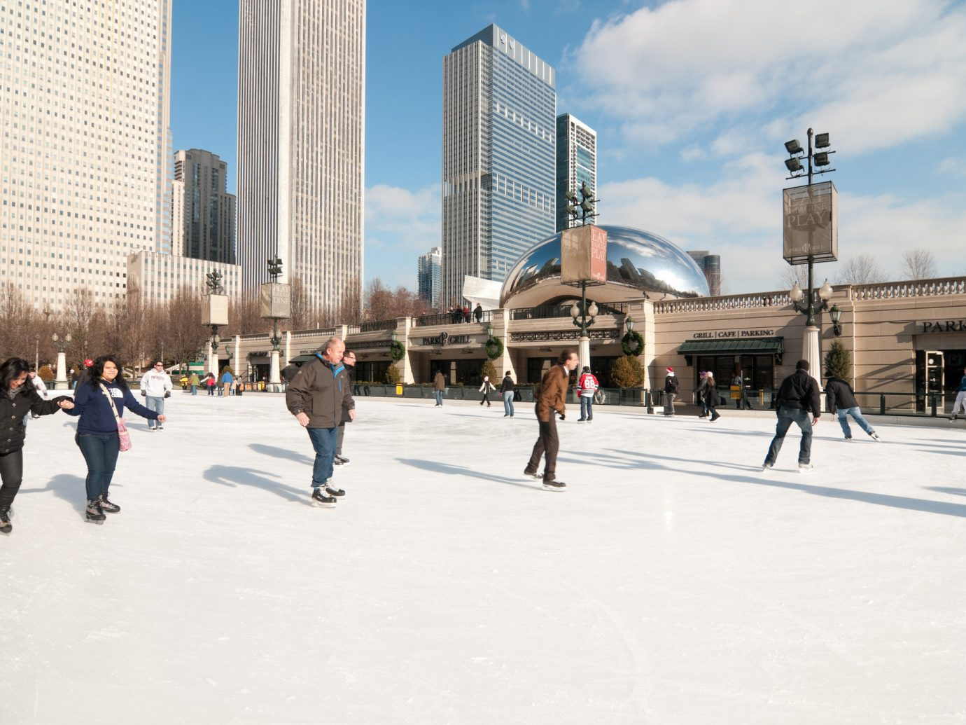 Trip Ideas Weekend Getaways outdoor sky urban area ice rink Winter Ice Skating City rink building ice daytime Downtown skating people recreation fun plaza winter sport snow tourism tree leisure freezing vacation pedestrian town square