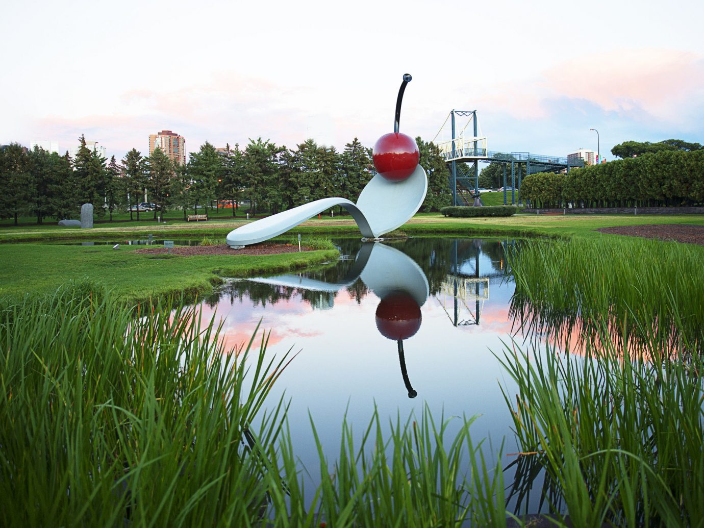 Trip Ideas grass outdoor sky reflection sport venue Golf red golf club pond paddy field lawn meadow golf course
