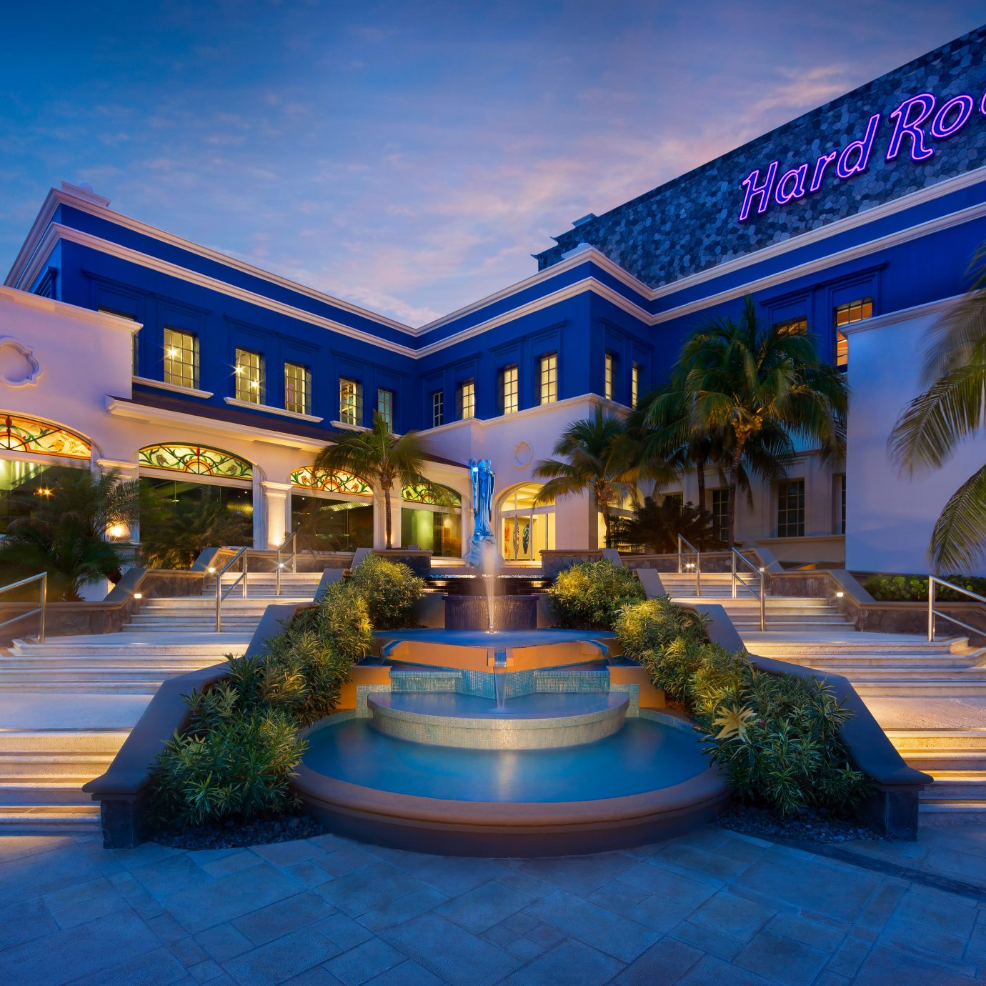 Exterior Grounds Modern Tropical leisure building Resort night plaza shopping mall sign