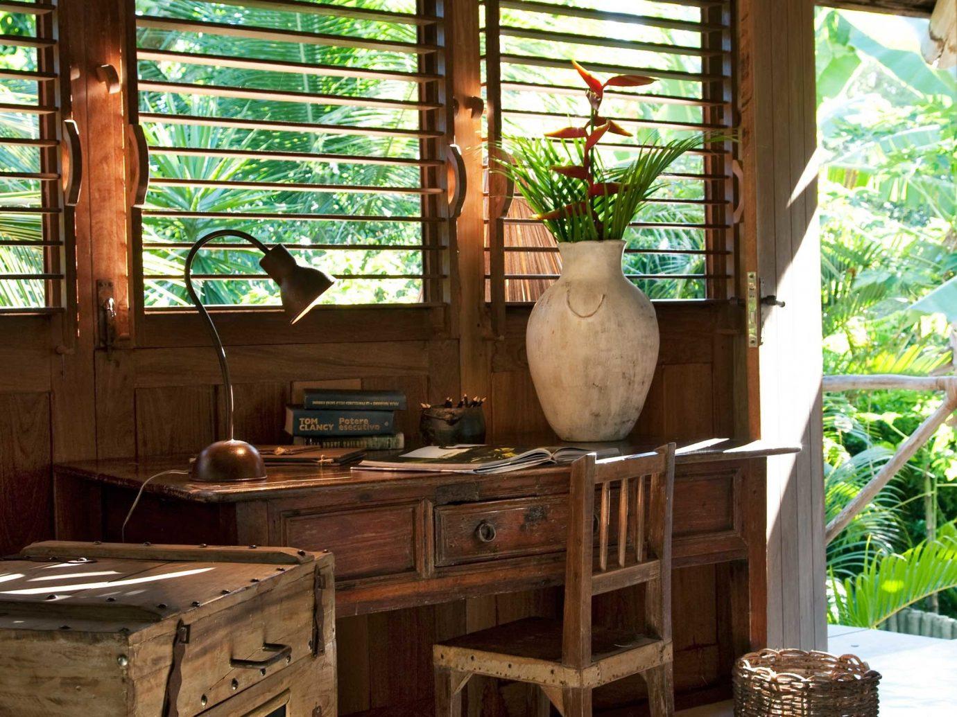 Beachfront Bedroom Eco Rustic Trip Ideas Tropical Waterfront floor indoor Living room house home estate wood log cabin interior design living room cottage Design Resort furniture farmhouse