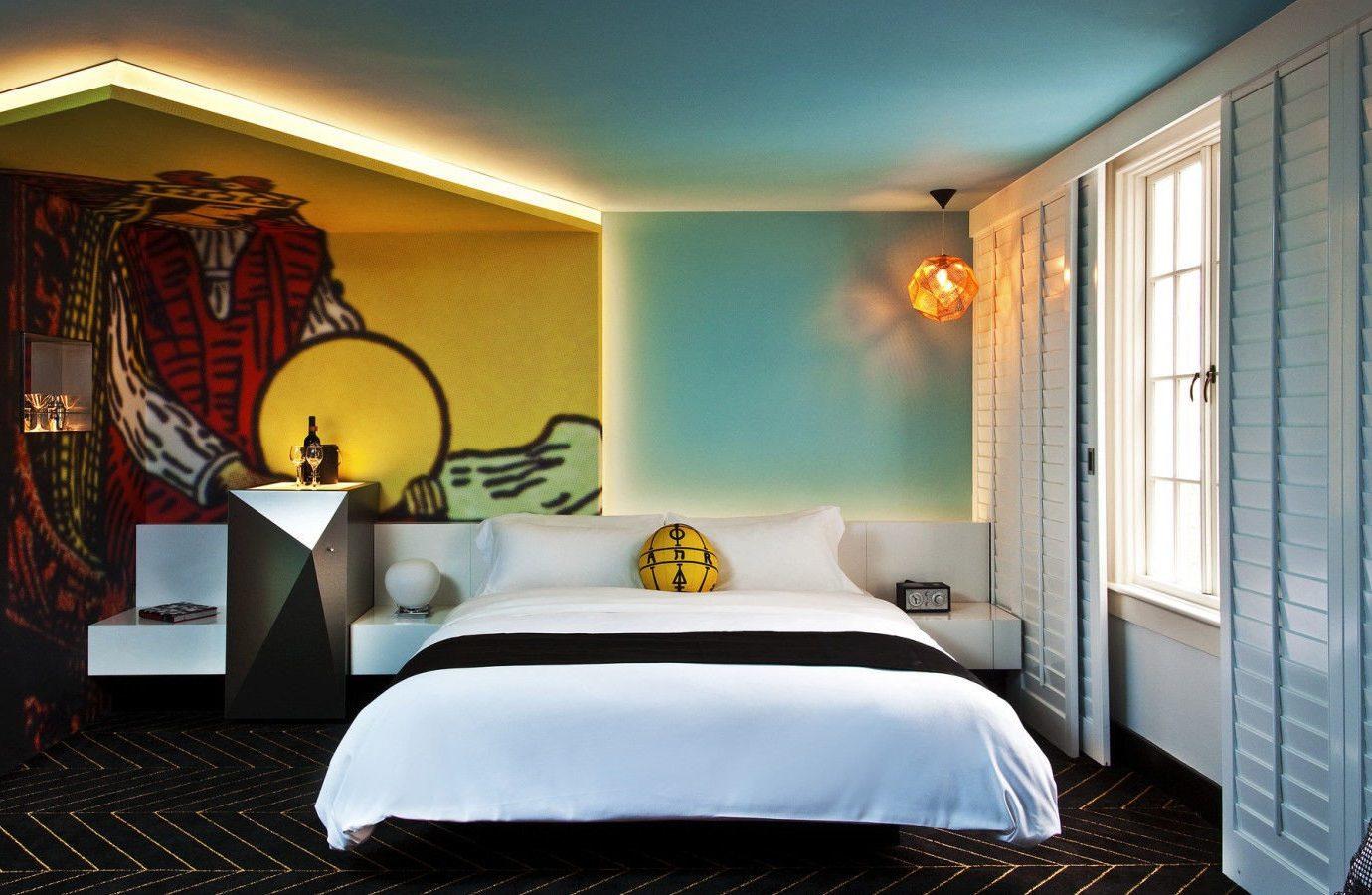 Hotels indoor wall bed room ceiling Suite interior design Bedroom home real estate hotel window boutique hotel furniture