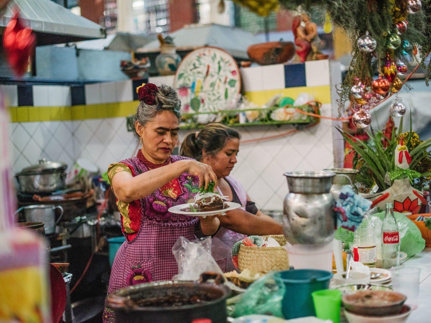 Arts + Culture Mexico Oaxaca Trip Ideas marketplace vendor market food street food bazaar stall produce recreation