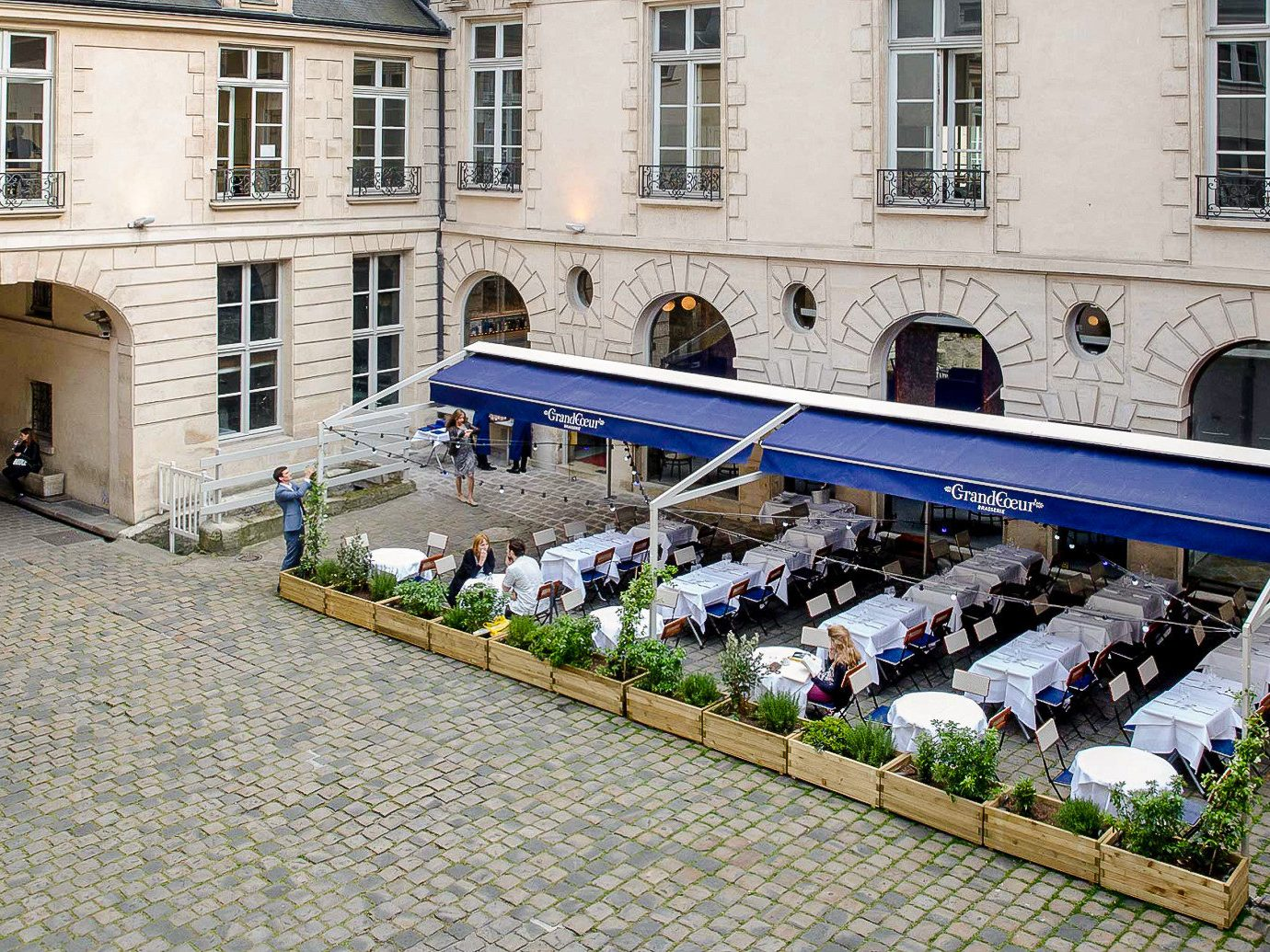 Food + Drink France Paris building Courtyard facade