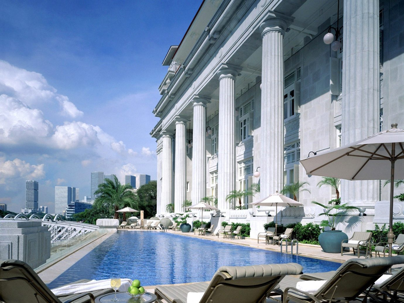 Hip Hotels Living Lounge Luxury Modern Pool building outdoor condominium Architecture vacation estate marina dock facade cityscape Resort apartment several
