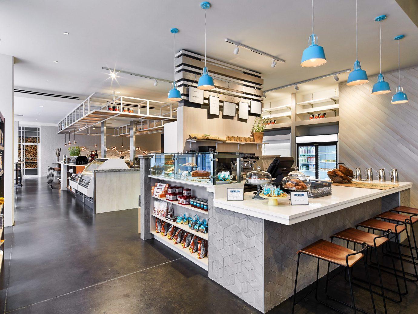 Food + Drink indoor floor interior design Kitchen retail several